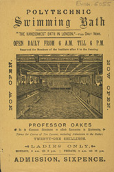 Advert for the Polytechnic Swimming Baths 6055
